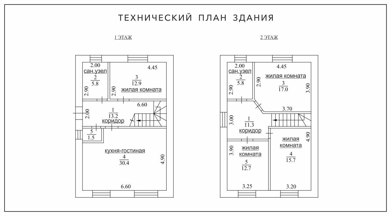 Планировка дом двухэтажный