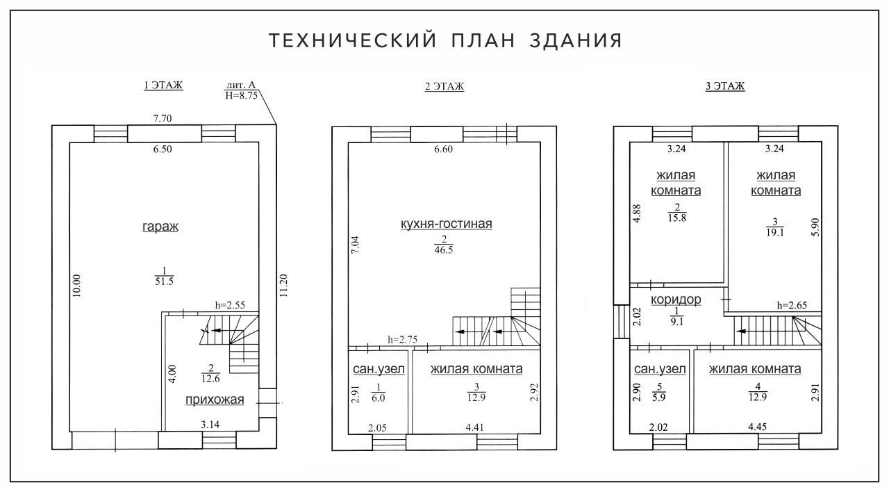 Планировка дом трехэтажный