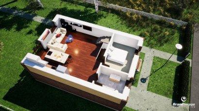 3D визуализация планировка коттедж 2 этаж