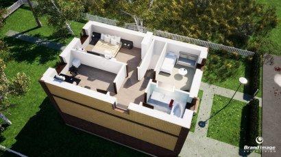 3D визуализация планировка коттедж 3 этаж