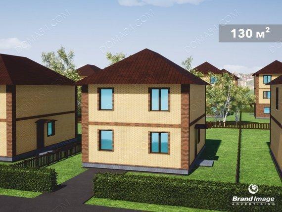 Двухэтажный дом коттедж