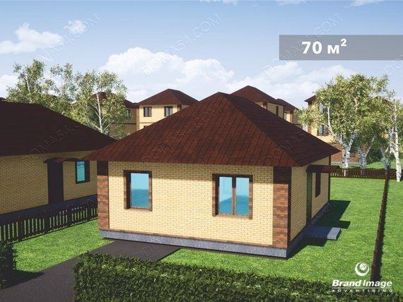 Одноэтажный дом коттедж