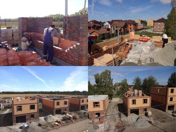 строительство дом коттедж
